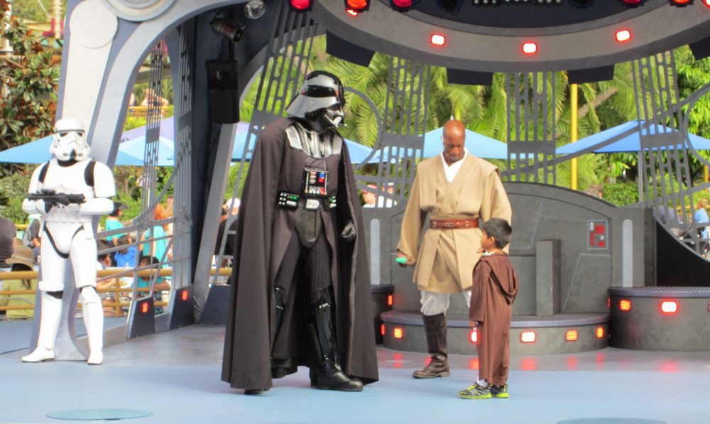 Vader facing down a kid in the Jedi Training Academy