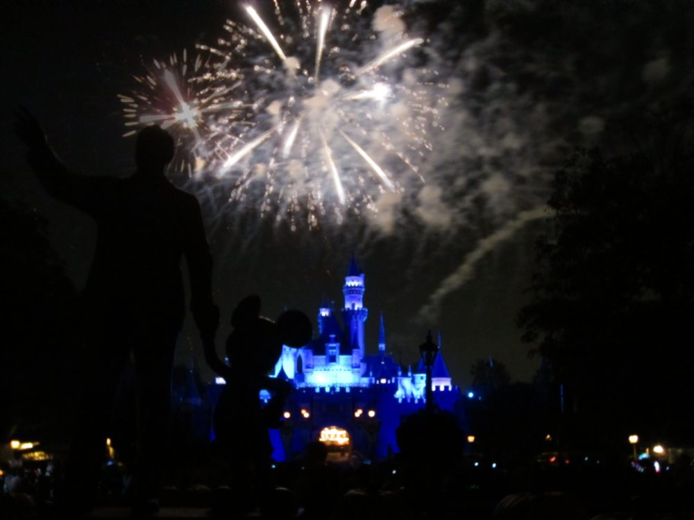 Fireworks with Walt and Mickey