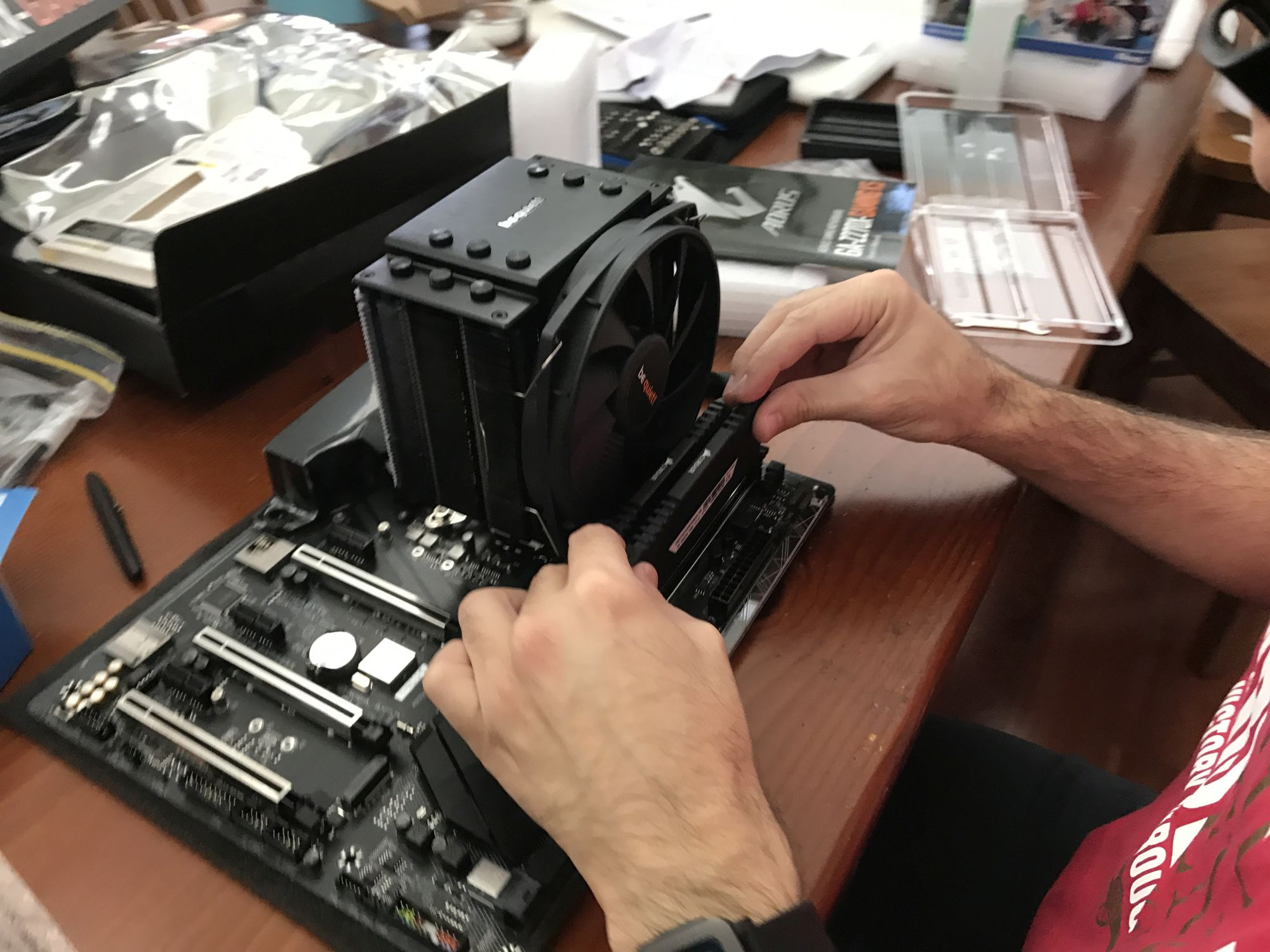 Adding the RAM.
